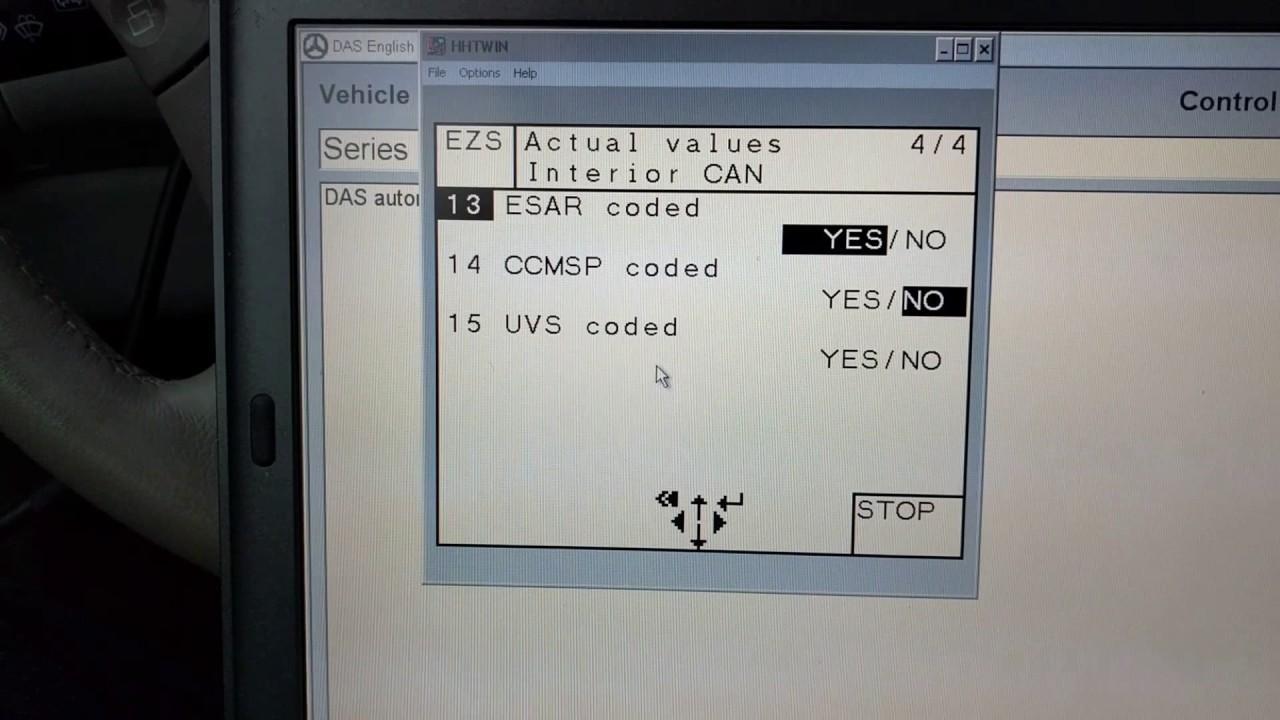 mercedes das control module