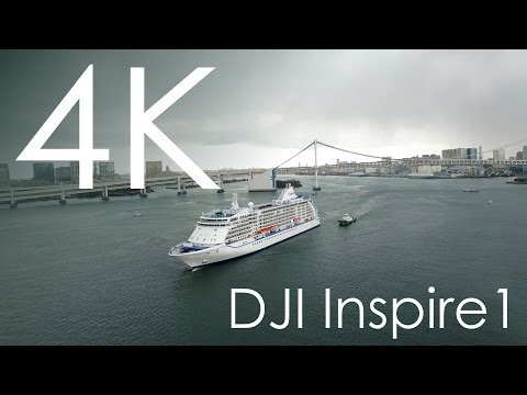 Seven Seas Voyager into Port of Tokyo taken with DJI Inspire1