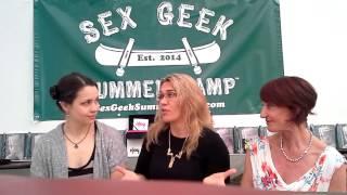 Jeana, Sabrina, and Carla at Sex Geek Summer Camp