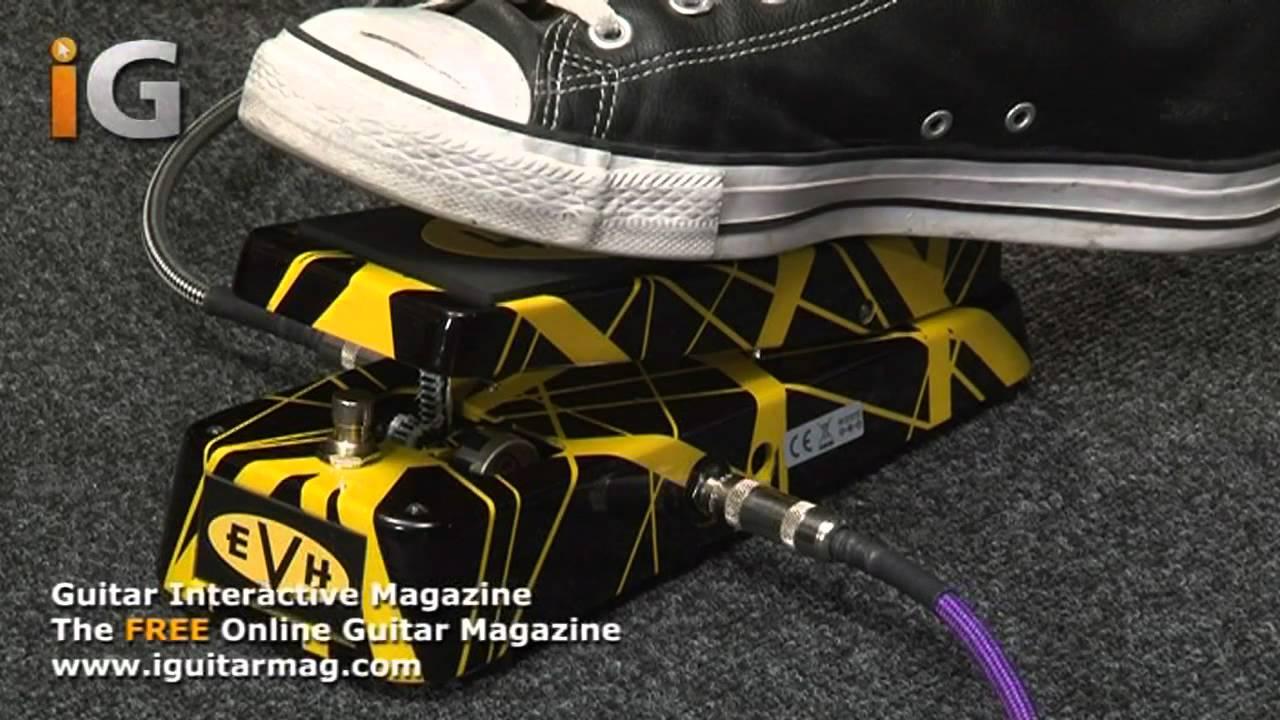 f5dda1b26ca Cry Baby Wah Wah Pedal EVH Review - Guitar Interactive Magazine ...