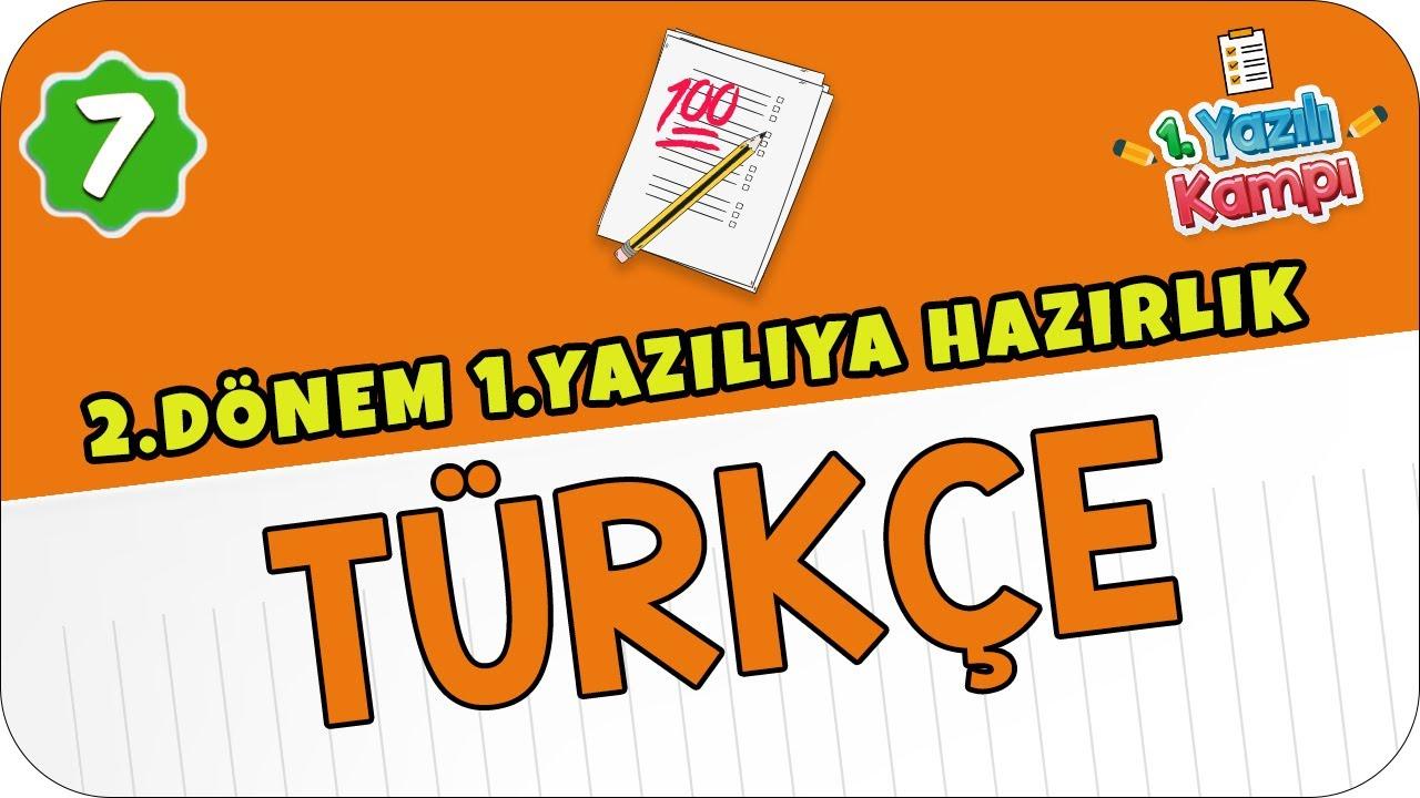 7. Sınıf Türkçe / 1. Dönem 2. Yazılı