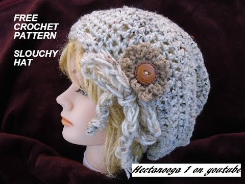 Free Crochet Pattern Yt Slouchy Hat Pattern Youtube