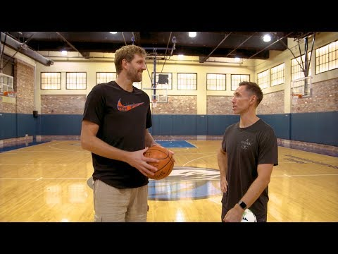 Dirk and Nash playing around at the AAC