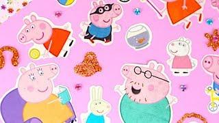 Свинка Пеппа украшаем коробку, игрушки из мультика