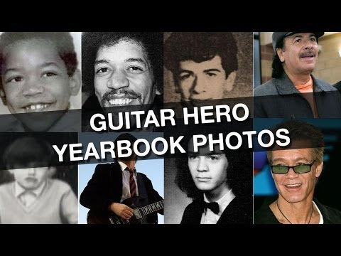 Guitar Hero Yearbook Pictures -- Jimi Hendrix, Slash + More