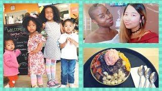 BLASIAN FAMILY REUNION w/ MAZELEE   BINGSU 팥빙수 MUKBANG + RAISING BILINGUAL KIDS 이중언어 Denver Vlog #3