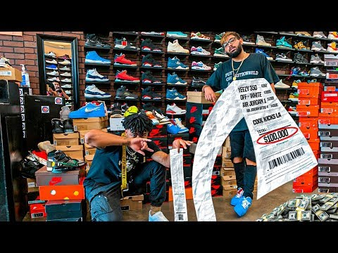 Millionaire Spends $100,000 Dollars on Shoe Shopping Spree!!