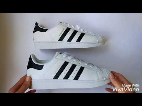 new style a0689 794df Comparacion superstar Original vs. Replica - YouTube