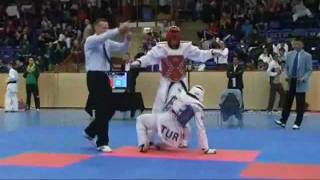 Taekwondo WTF ; Servet TAZEGUL (Turkey) vs josef al zubeidy (Sweden)