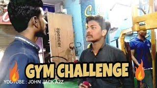 GYM CHALLENGE feat.half engineer || JOHN JACK ATOZ || A2Z BaaZ