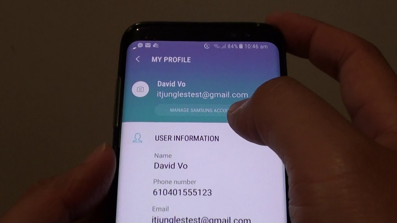 Samsung Galaxy S8: How to Change Samsung Account Email Address