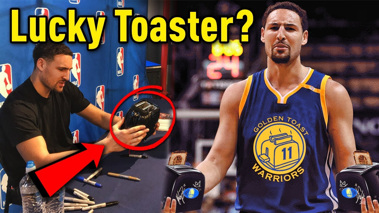 d5a35e699 The Story Of Klay Thompson s LUCKY TOASTER!