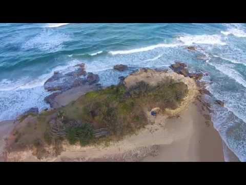 Cotton Tree, Maroochydore, Sunshine Coast flyover with drone