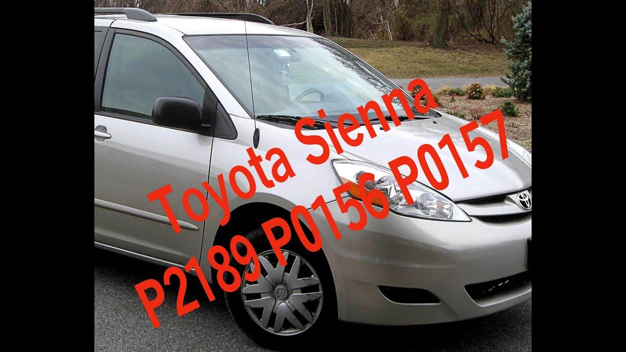 Toyota Sienna Code P2197 P0156 P0157 Toyota B2s1 Af Sensor