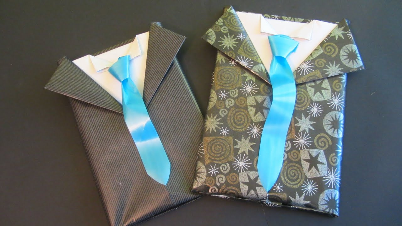 Tutorial envoltorio de regalo para caballero gift - Envolver regalos de navidad ...