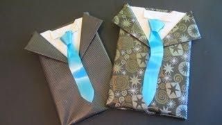 Repeat youtube video Tutorial: Envoltorio de regalo para caballero. Gift wrapping for men