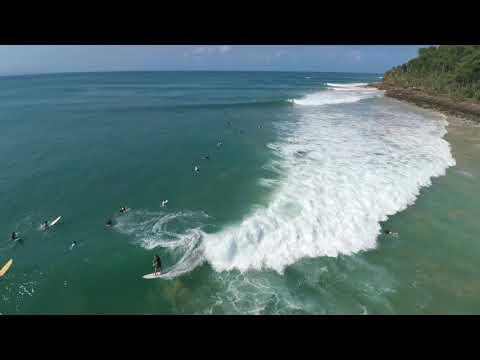 Cyclone Gita, Surfing at National Park, Noosa, XStar Drone Footage 18-2-18