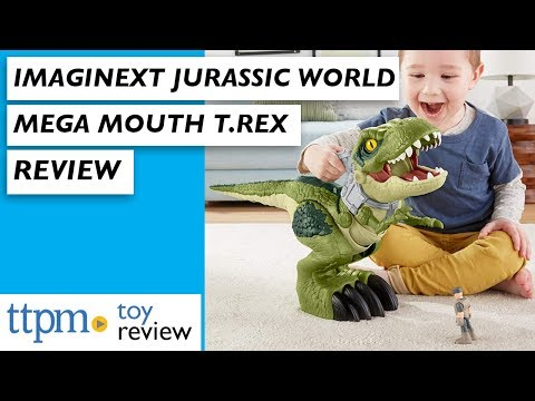 Brand New Imaginext Jurassic World Mega Mouth T-Rex From Fisher-Price