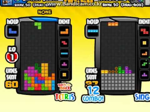 [NO TSPIN, NO BOMB, NO MAP] Tetris Battle 127 LINES !!
