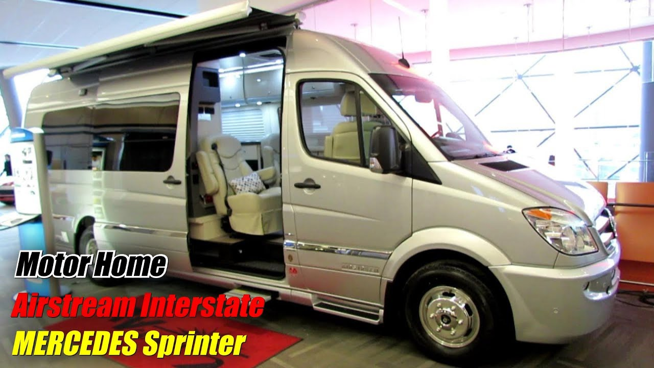 Mercedes Sprinter Rv >> 2014 Mercedes Benz Sprinter Airstream Interstate Motor Home Exterior Interior Walkaround