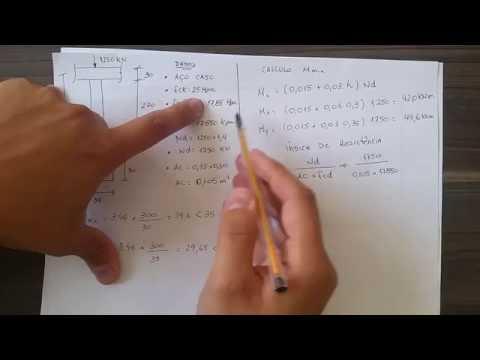 Cálculo de Pilares de concreto - Pilar Curto