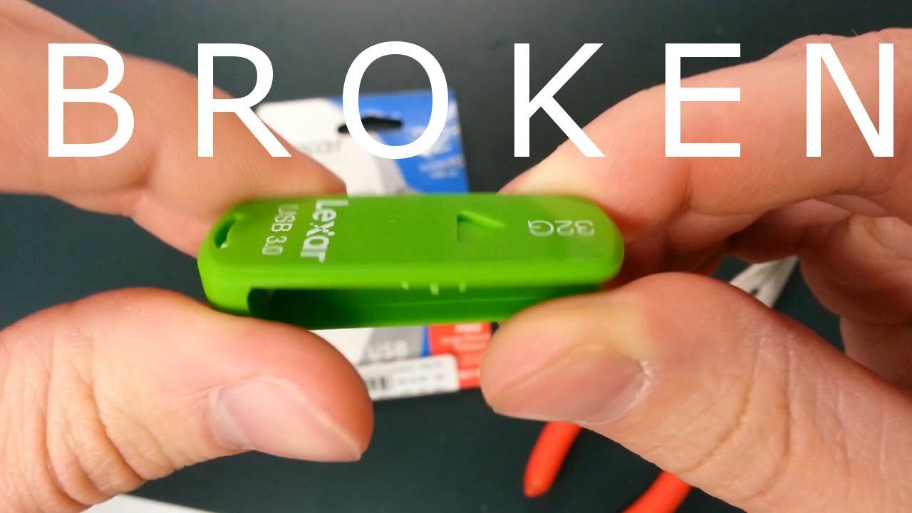 how to fix a broken lexar flash drive