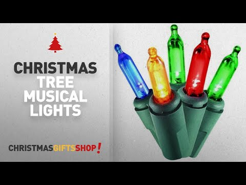 Most Popular Christmas Tree Musical Lights: Holiday Essence - Set of 140 Indoor Multi-Color Musical