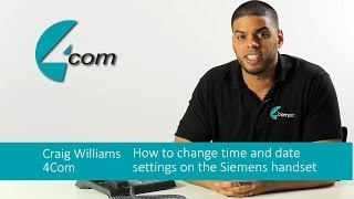 Siemens (Unify) Handset: How to change time and date settings