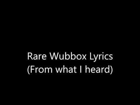 Rare Wubbox lyrics