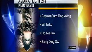 Pilots names from Asiana Airlines Plane Crash