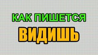Видео: Как правильно пишется слово ВИДИШЬ по-русски