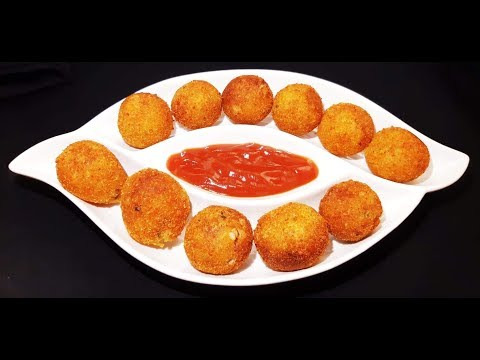 পটেটো ব্রেড বলস || Potato Bread Balls Recipe || Aloo Bread Snacks.