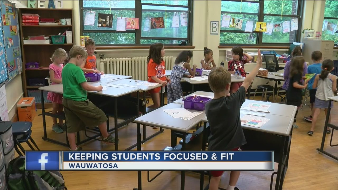 Elementary Classroom Playlist ~ Wauwatosa elementary school uses standing desks youtube