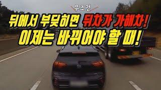 2672회. (2653회 투표결과) 앞차를 뒤차가 박았을 때 무조건 뒤차의 안전거리 미확보로 뒤차가 가해차량이다?  이제는 바뀔 때가 되었습니다