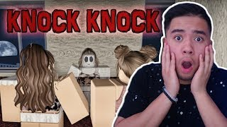 REACTING TO THE SCARIEST ROBLOX STORY... (KNOCK KNOCK)