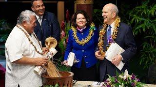 President Nelson Admonishes Samoans to Protect Their Children