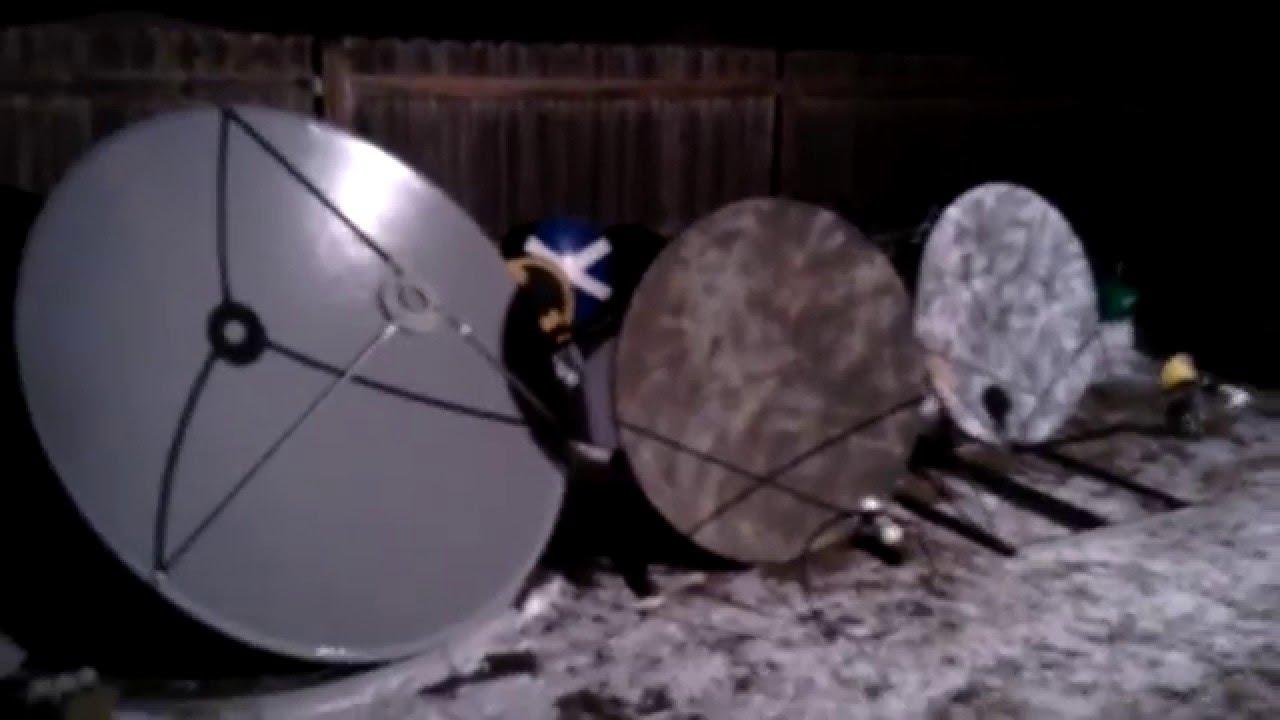 Camouflage Dishes Stow Away Arctic Camouflage Ku Band Satellite Dish Youtube