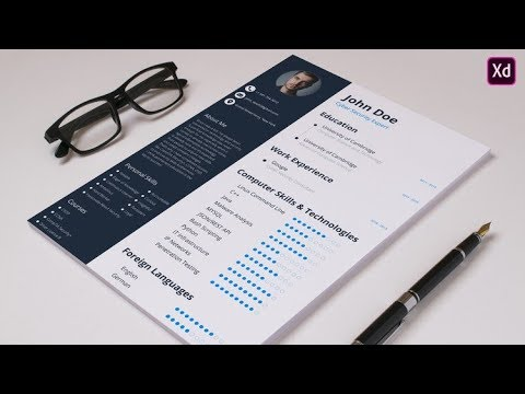 Design Professional Cv Resume For Your Dream Job Adobe Xd New Course Youtube