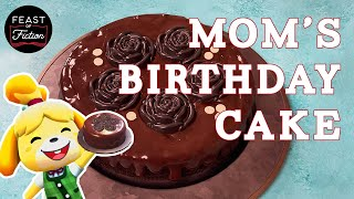 Animal Crossing Food - Mom's Birthday Cake! Video Game Food IRL ACNH | Feast of Fiction