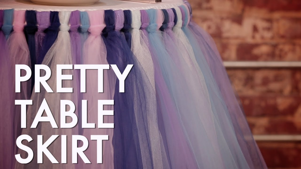 How To Make A No Sew Tutu Table Skirt Hgtv Youtube