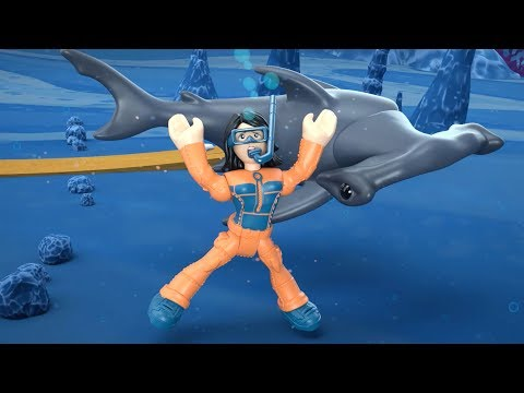 Imaginext -  The Hammerhead Shark And The Diver | Shark Race | Cartoons For Children | Fisher Price