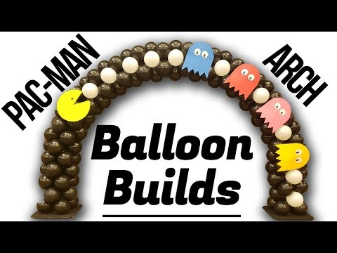 Pac-Man Arch - Balloon Builds