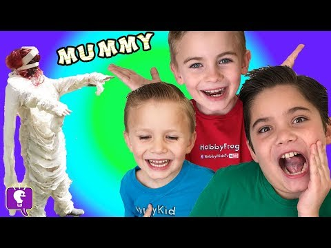 Creepy 👀 MUMMY TROUBLE! Scary Adventure Imaginext MONSTER Toys HobbyKidsTV