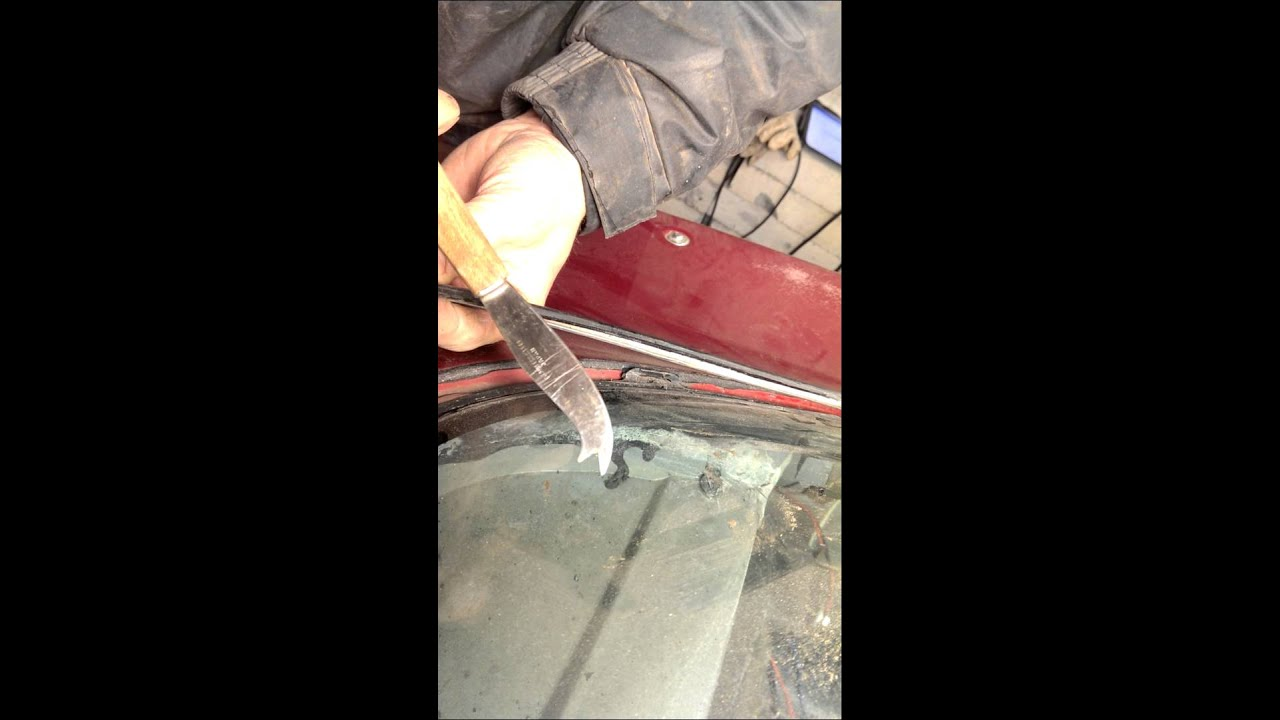 1978 C3 Corvette Rear Glass Trim Removal YouTube
