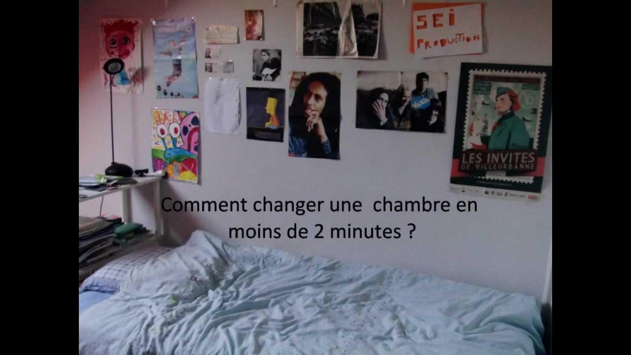 Changer Sa Chambre comment changer une chambre en moins de 2 minutes ? - youtube