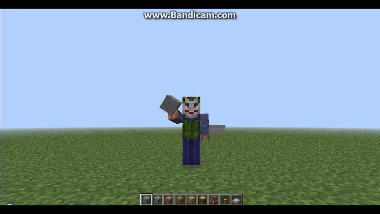 The Joker Minecraft Skin YouTube - Skins para minecraft pe joker