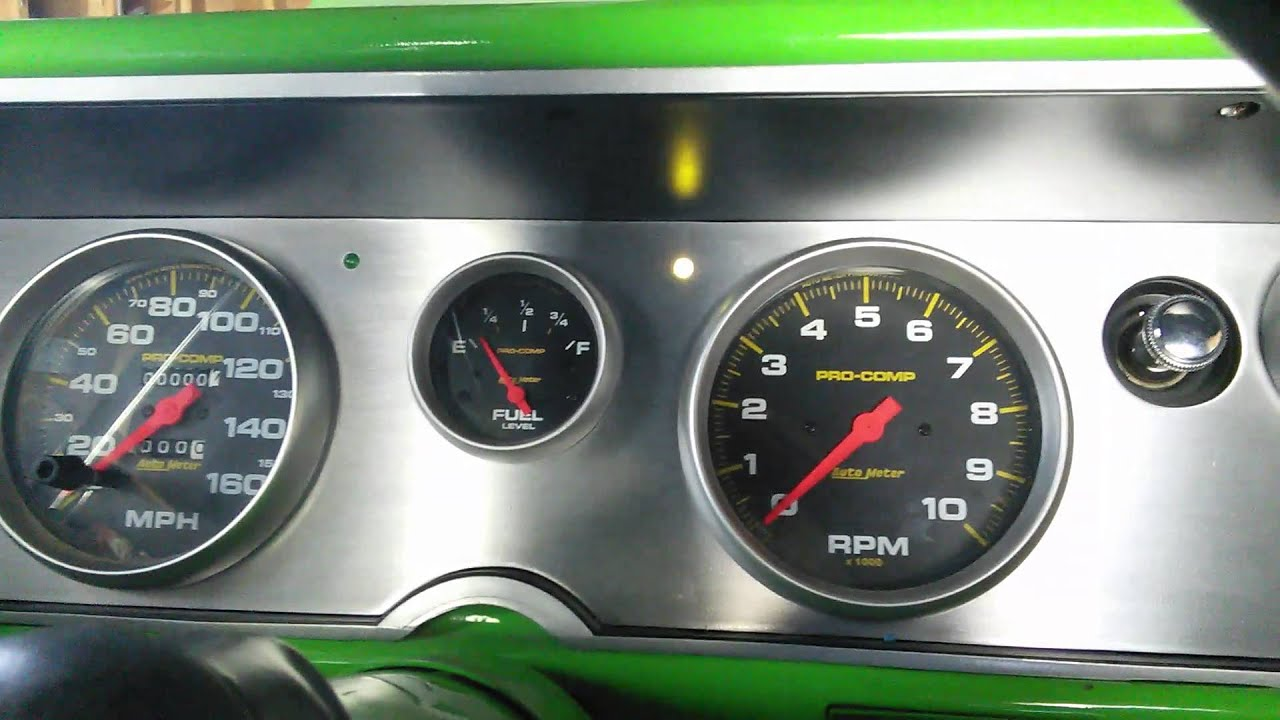 64 Chevelle Custom Dash Youtube