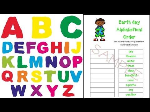 Alphabetize   abc order homework   Game Kids - Second Grade