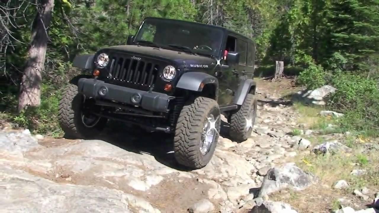 eagle lakes trail rubicon jeep - YouTube