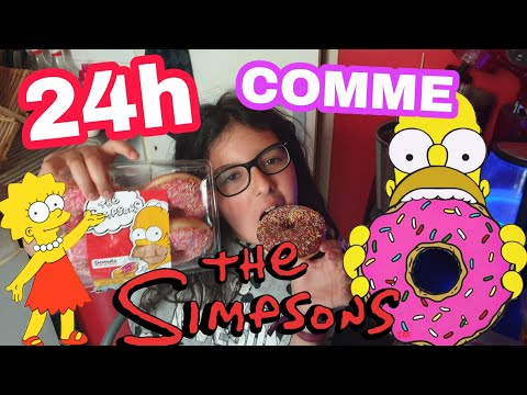 ON MANGE QUE LA NOURRITURE DES SIMPSONS (HOMER) PENDANT 24H : OUH PINAIZZZZ